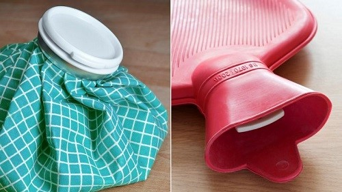 استفاده از بسته های آب داغ و یخ