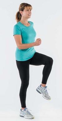 بالا بردن زانو ورزشی جهت کاهش کمردرد