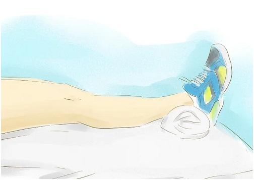 تمرین بازکردن منفعل زانو