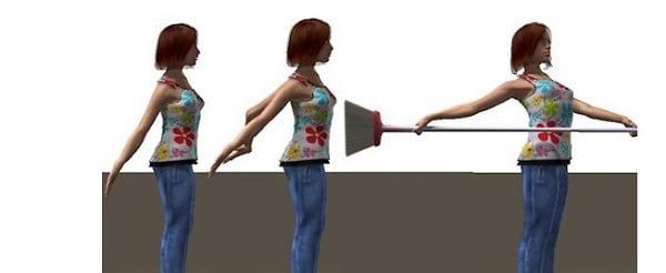 تمرین کشیدگی شانه به عقب مناسب برای شانه درد