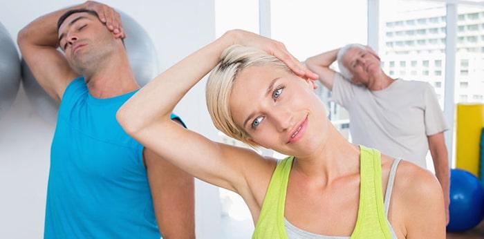 حرکات کششی و تمرینات ورزشی گردن