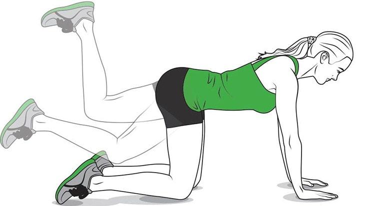 تمرینات ورزشی مناسب برای درمان زانودرد:خم به عقب پا