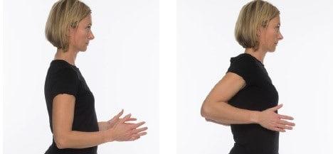 تمرین فشردن هر دو کتف به یکدیگر مفید برای دیسک گردن