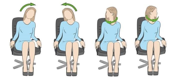 چرخش گردن برای آرتروز در گردن