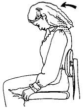 تمرین کشش پشت گردن مفید برای دیسک گردن