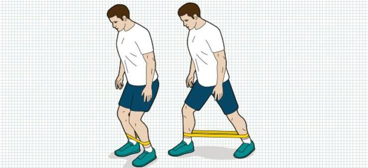 تمرینات ورزشی مناسب برای درمان زانودرد:گام برداشتن جانبی